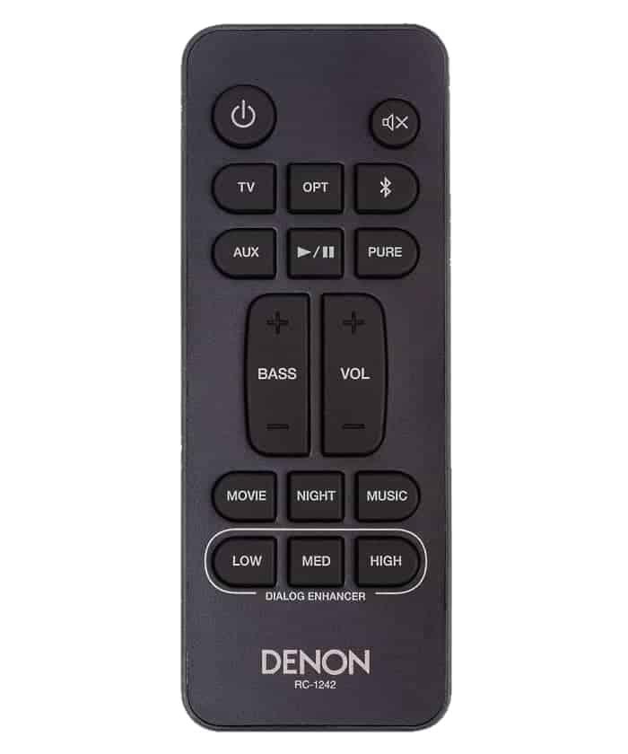 Mando a distancia incluido barra de sonido Denon DHT-S416