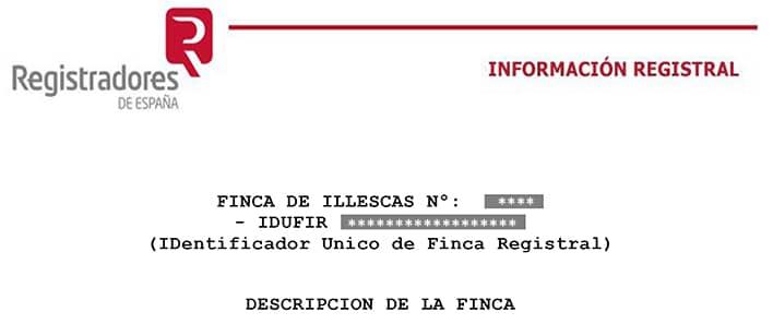 IDUFIR: Identificador único de Fincas Registrales