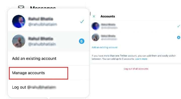log out of all connected twitter accounts from one place.