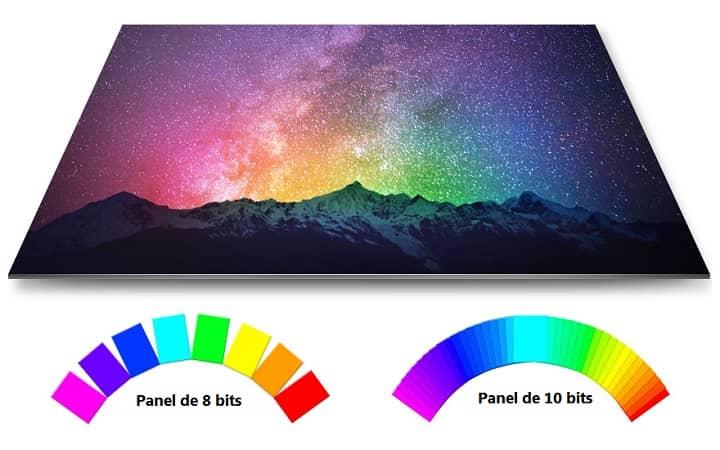 diferencias entre panel 8 bits y panel 10 bits