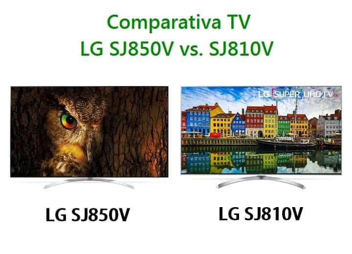 Comparativa TV LG SJ850 vs. SJ810