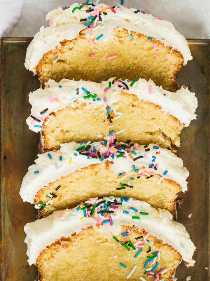 Slices of Vanilla Loaf Cake