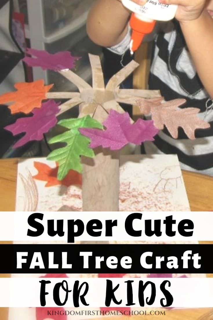 You're gonna love this easy fall tree craft for kids! This was one of our favorite fall crafts ever! It was so much fun!