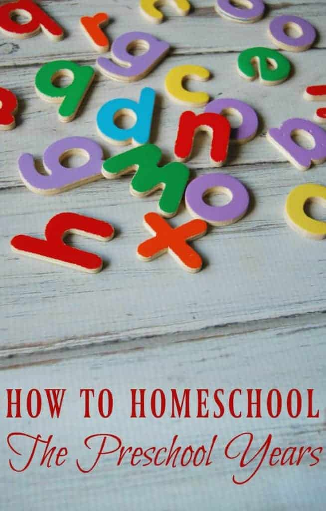 How to Homeschool: The Preschool Years | This is how my family does school during the preschool years and how we make sure our kids are ready for kindergarten. #homeschool #preschool #prek
