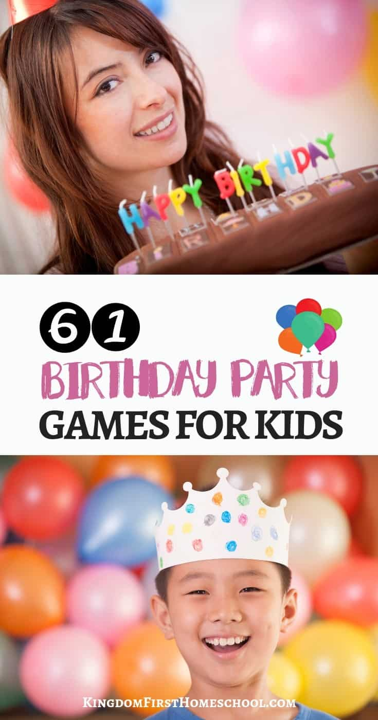 May for us is a very busy month, two out of my three girls are May babies! Finding new and interesting games to play can be a challenge when you have back to back Birthday Parties! Here's 61 birthday party games and activities.