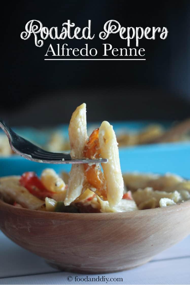 Roasted Pepper Alfredo Penne