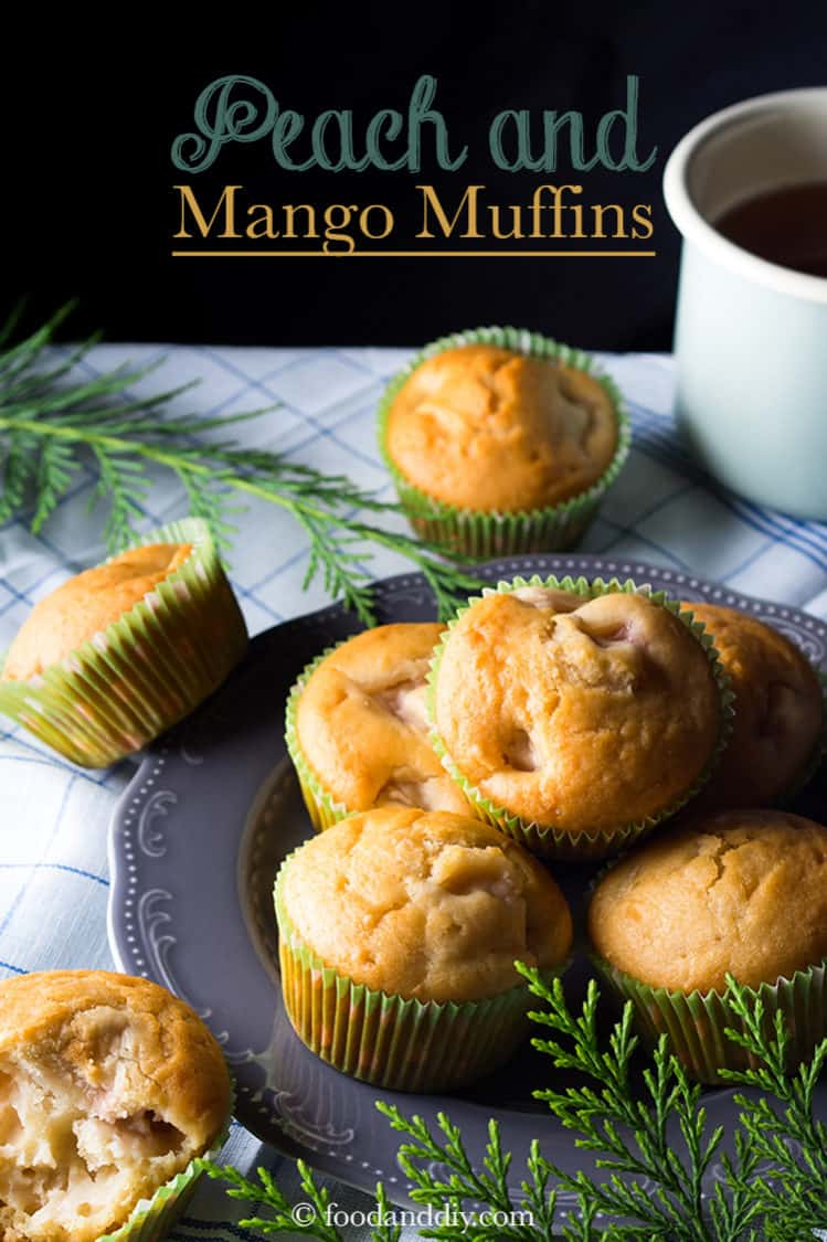 Peach Mango Muffins - A PERFECT Make-Ahead Breakfast!