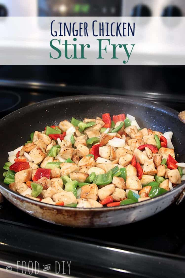 Ginger Chicken Stir Fry </br>An EASY *almost* one dish dinner!