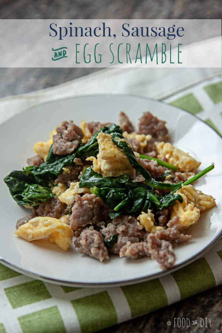 Spinach, Sausage, & Egg Scramble