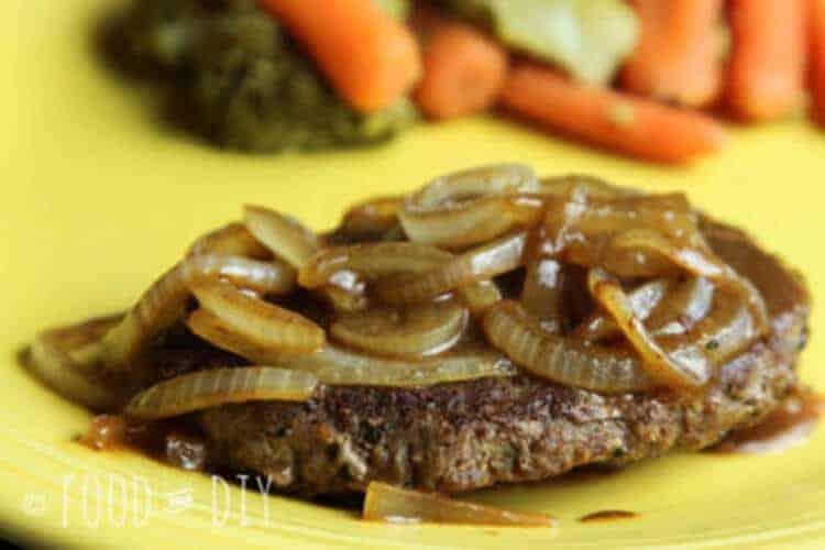 hamburger steaks and onions