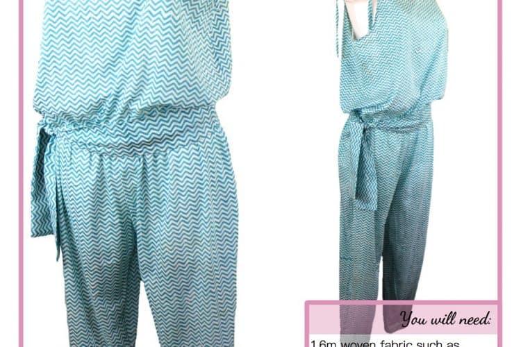 The Tailoress PDF Sewing Patterns - Gabriella Jumpsuit Tutorial