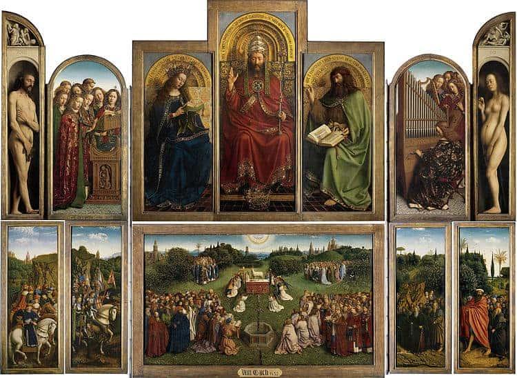 Hubert and Jan van Eyck, The Ghent Altarpiece (Open), 1420s.
