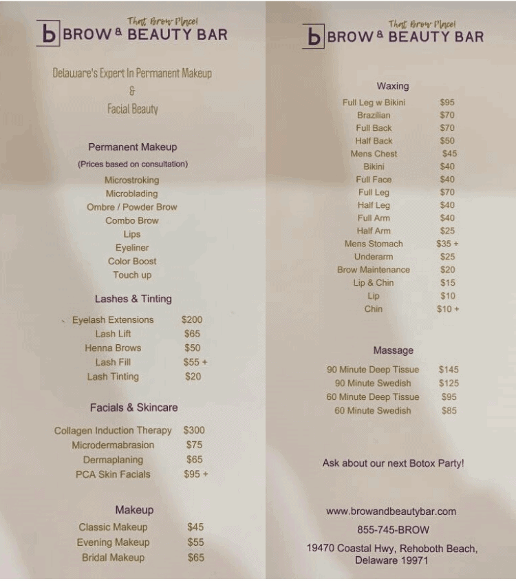 permanent makeup cost by brow & beauty bar