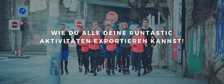 Aktivitäten von Runtastic exportieren
