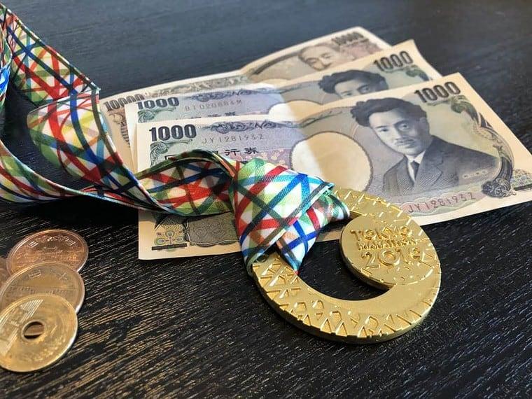 Tokio Marathon Medaille mit Yen
