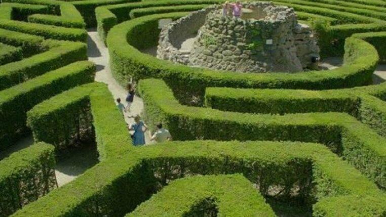 Toerisme Ariège Kinderen Pret Labyrinth de Merville