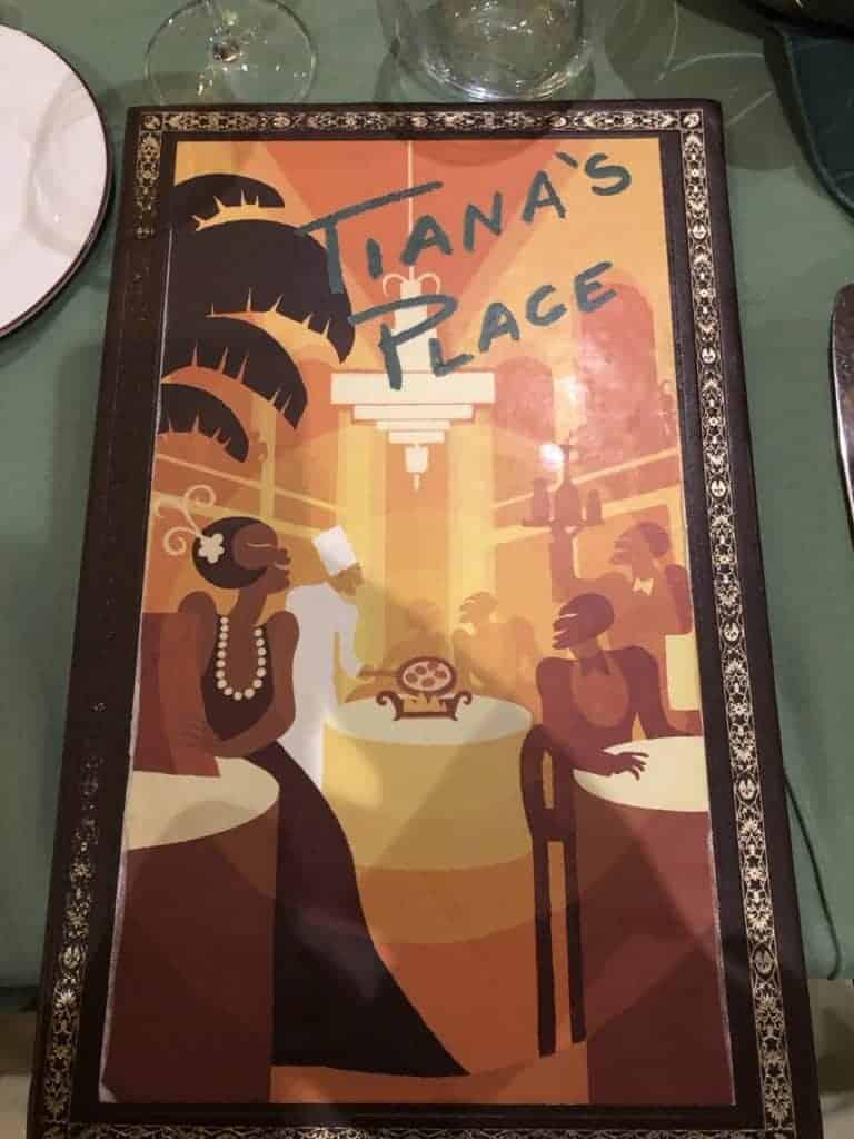 Tiana's Place Menu Let the Magic Begin