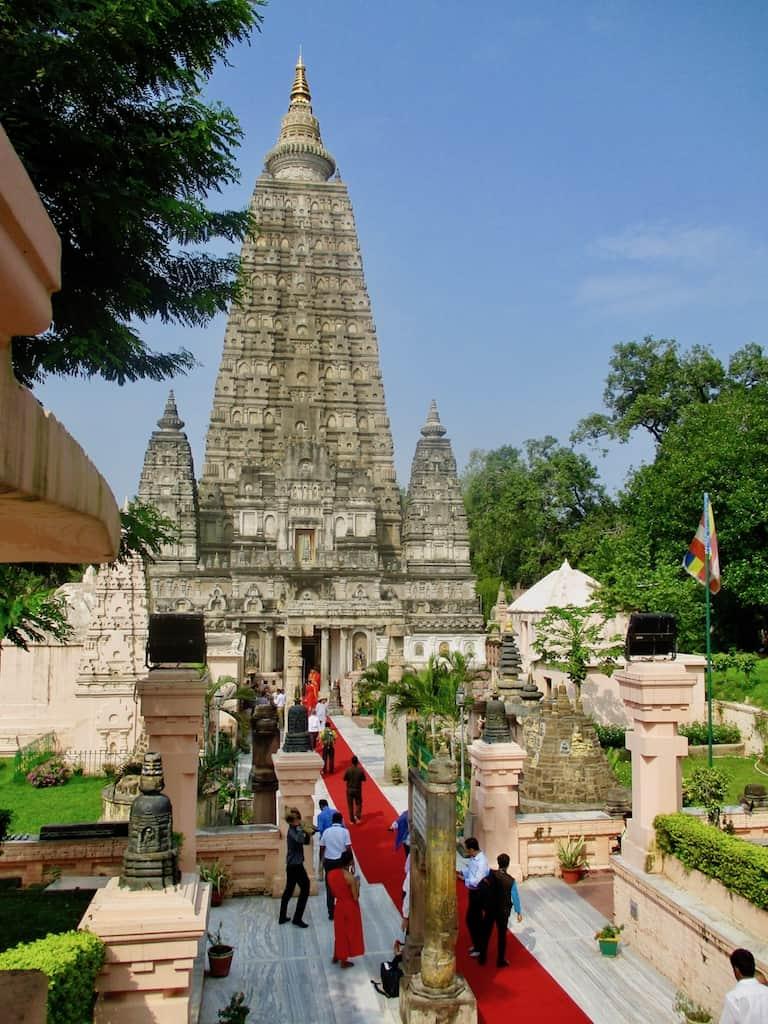Buddhismus Indien: Der Mahabodhi-Tempel in Bodhgaya