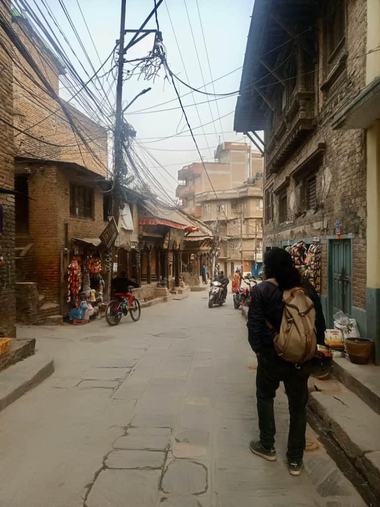 In den Gassen von Kirtipur