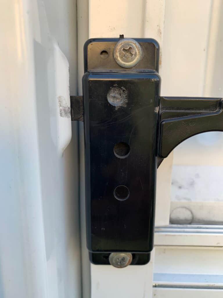 rv screen door latch from front