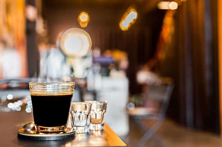 Cafe Americano freshly brewed