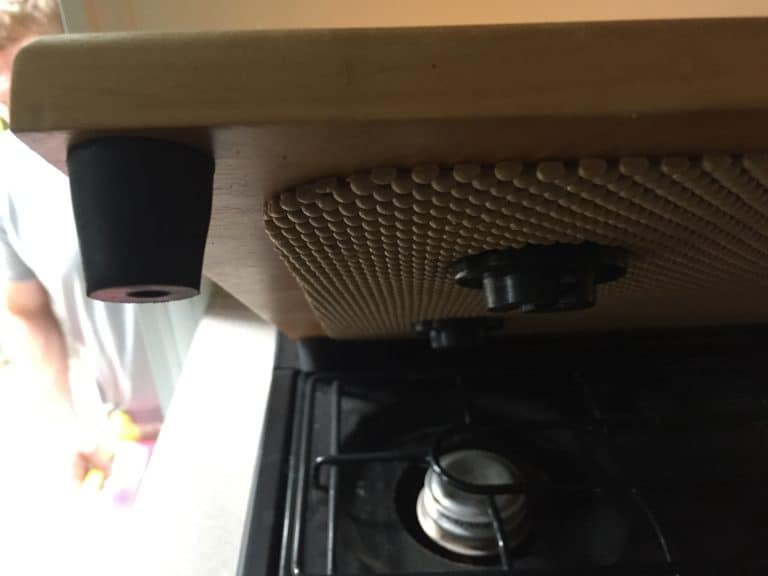 rubber stopper on rv stove top cover