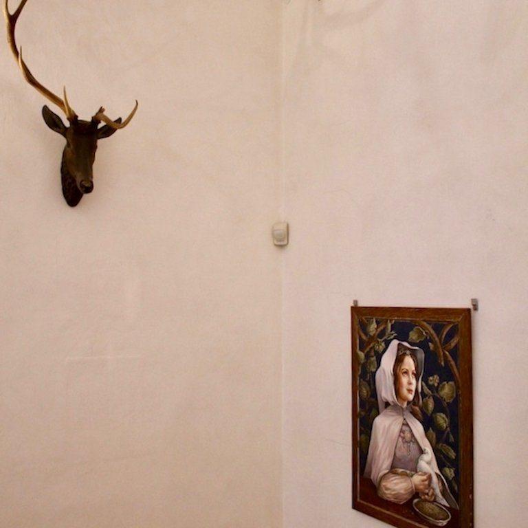 Drehort Drei Haselnüsse für Aschenbrödel: Wanddeko auf Schloss Morizburg