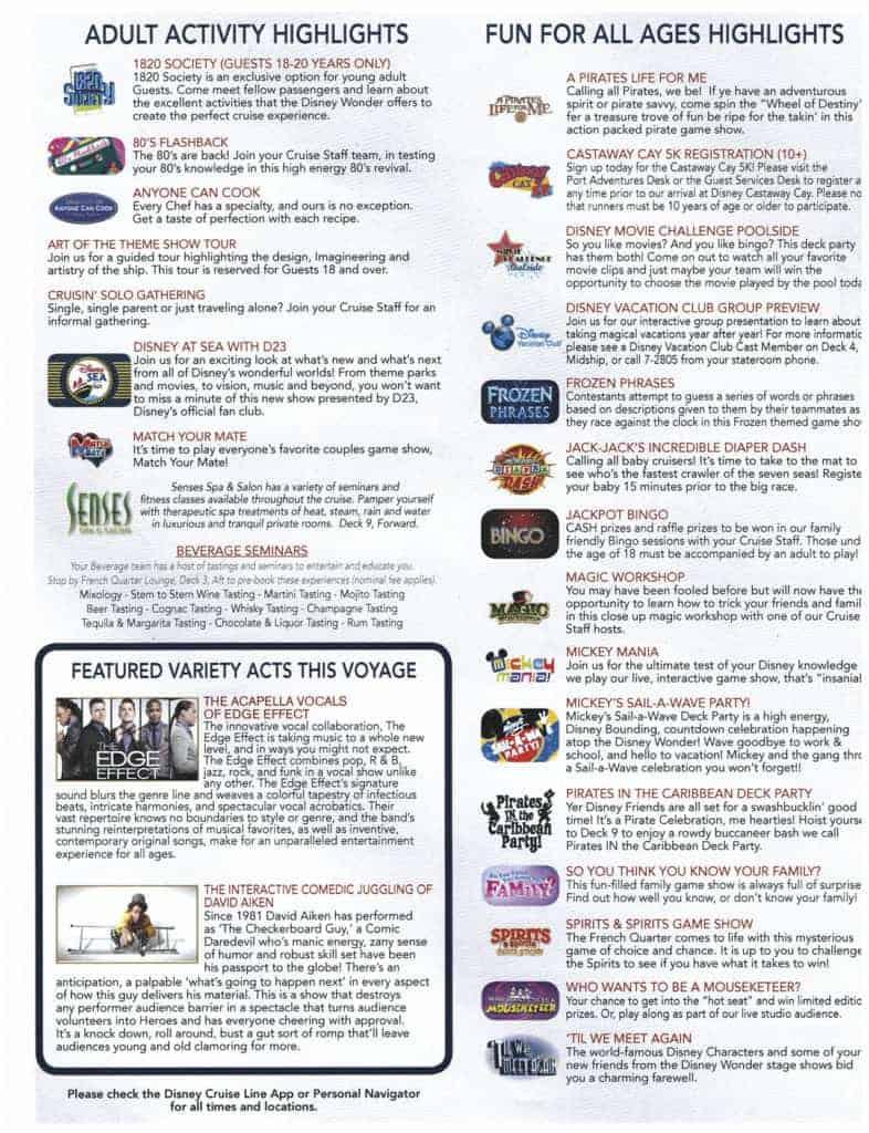 2nd Page February 2, 2020 Navigator Disney Wonder San Juan to New Orleans