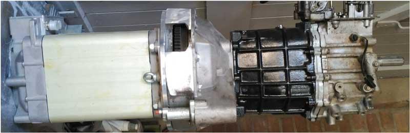 elektrische Aandrijflijn motor met bak
