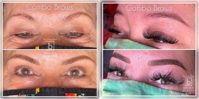 Combo Brows Before After