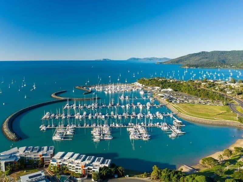 Aerial image of Coral Sea Marina Resort, Whitsundays