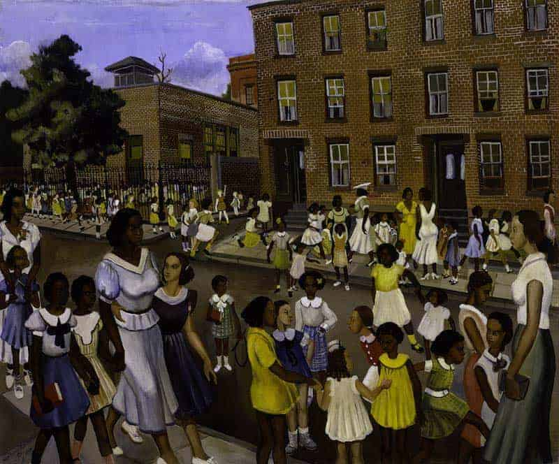 School's Out (1936) by Allen Rohan Crite