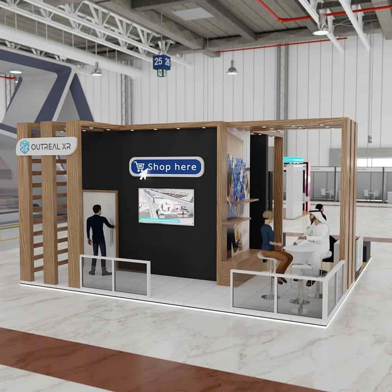 Shop virtually in virtual events platform