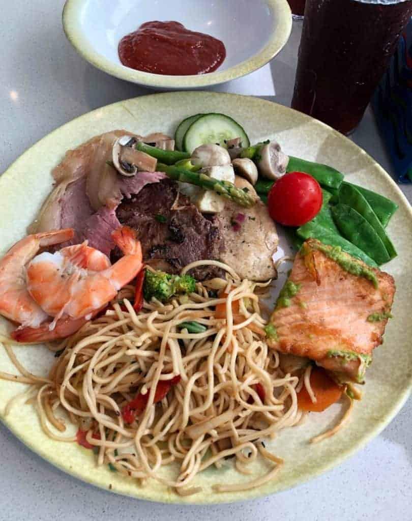 Lunch at Cabanas Disney Magic Transatlantic Cruise