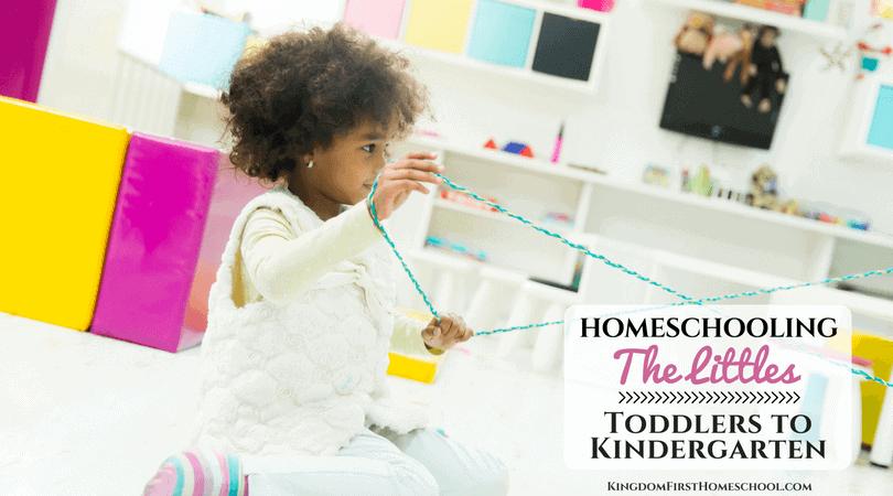 Homeschooling little ones - Toddlers to Kindergarten