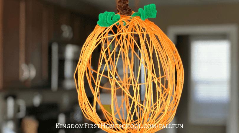 Yarn Pumpkin Craft