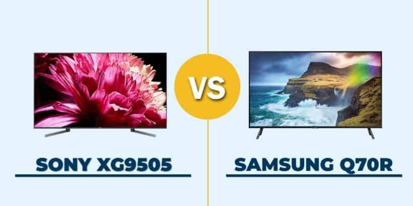 Comparativa Sony XG9505 vs. Samsung Q70R