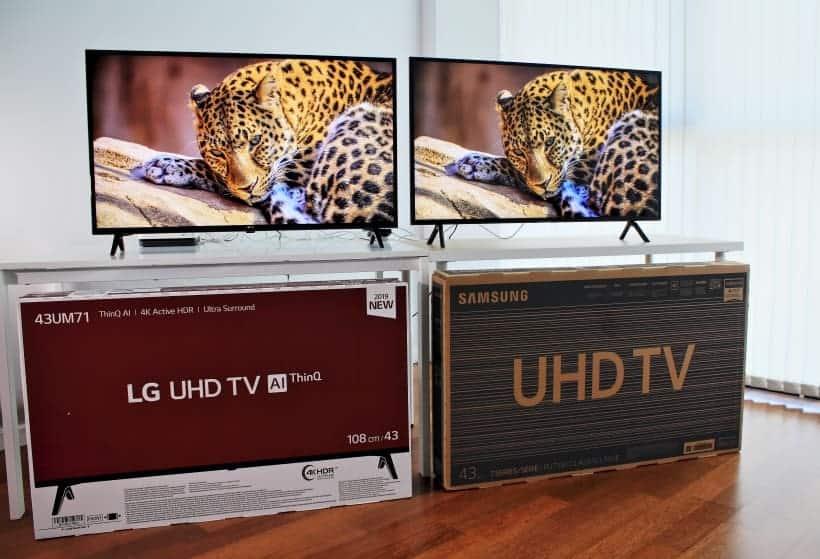 Comparativa LG UM7100 vs. Samsung RU7105