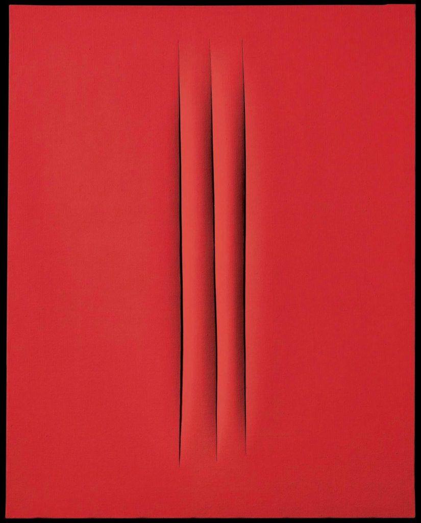 Slashed canvas by Lucio Fontana