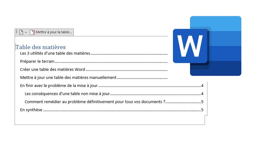 Read more about the article Table des matières Word : création, mise à jour et alternatives