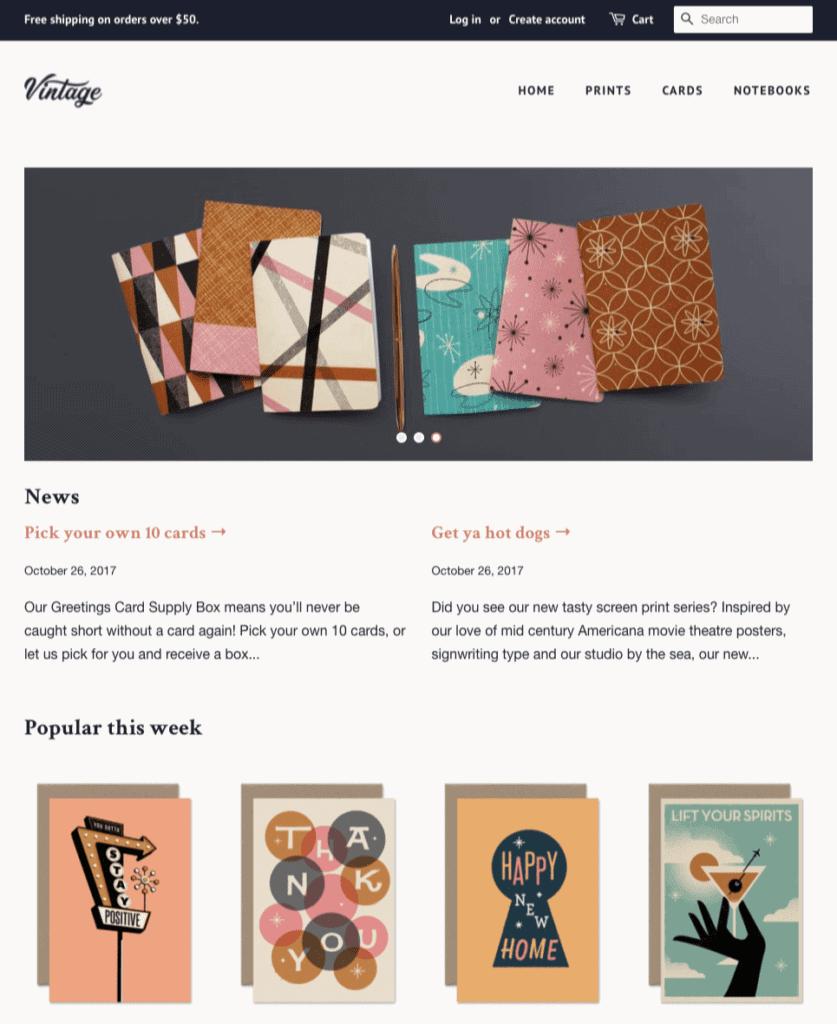 vintage Free Shopify themes