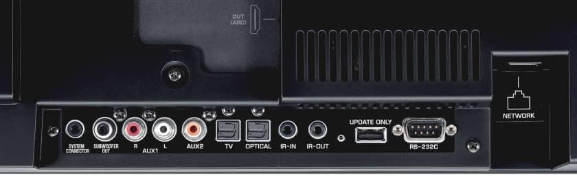 Conexiones proyector de sonido Yamaha YSP-5600