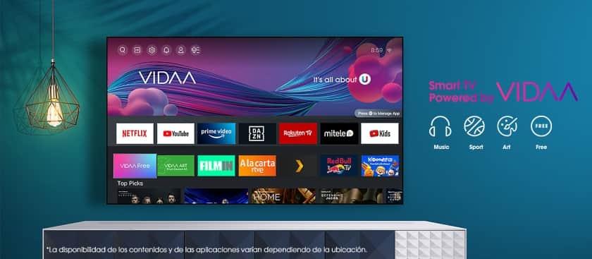 Smart TV Hisense sistema operativo VIDAA U