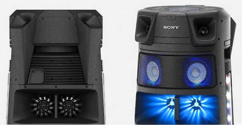 Tweeters frontales y traseros Sony MHC-V83D