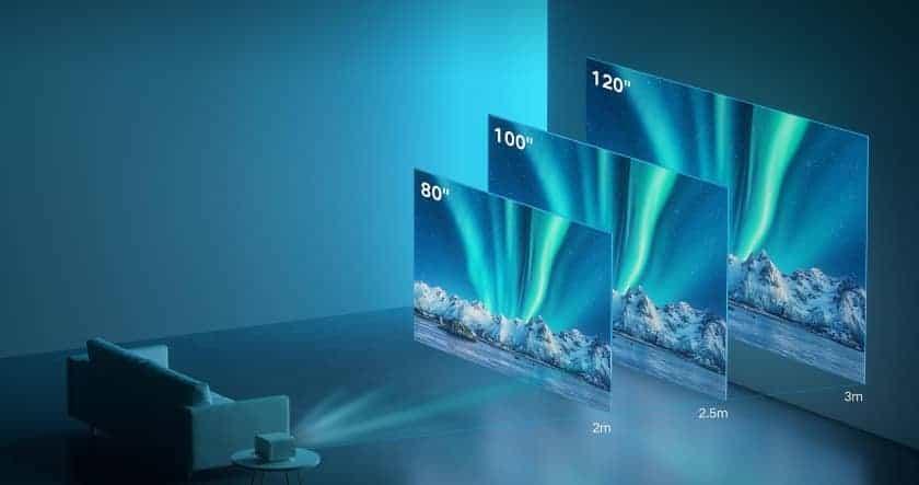 Diagonal de pantalla ofrecido por el proyector Mi Smart Projector 2 Pro