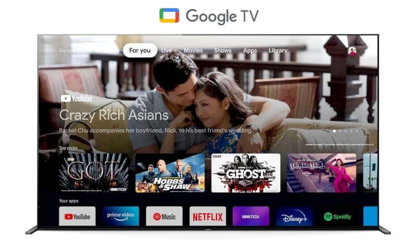 Nuevo sistema operativo Google TV en Sony Bravia 2021