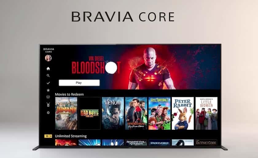 Servicio de películas en streaming Bravia Core