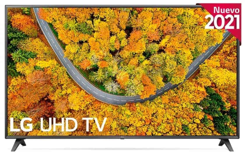 LG UP75006 UHD 4K - Los mejores televisores para jugar