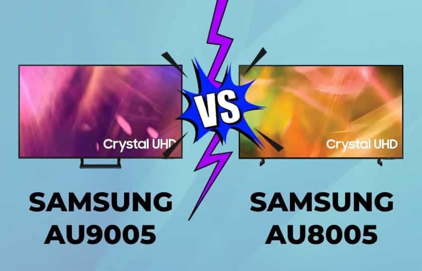 Comparativa Samsung AU9005 vs AU8005 Crystal UHD 2021