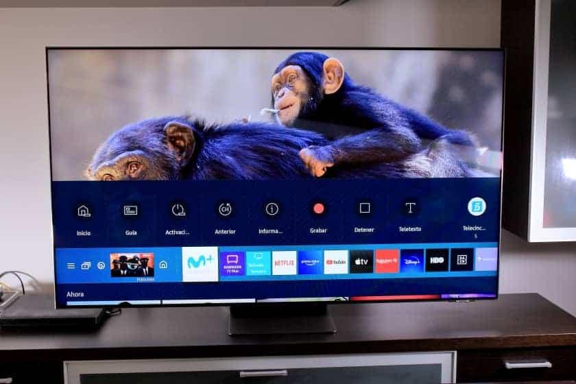 Menú Smart TV Tizen 2021 versión 6.0